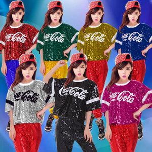 少女时代新款ds表演演出服女歌手爵士舞团体舞啦啦队字母亮片服装