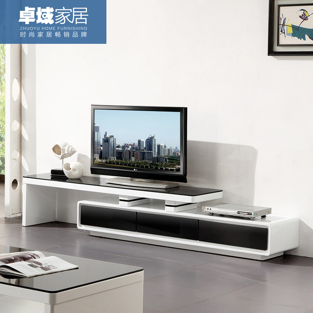 USD 822.14] TV cabinet simple modern TV cabinet paint retractable ...
