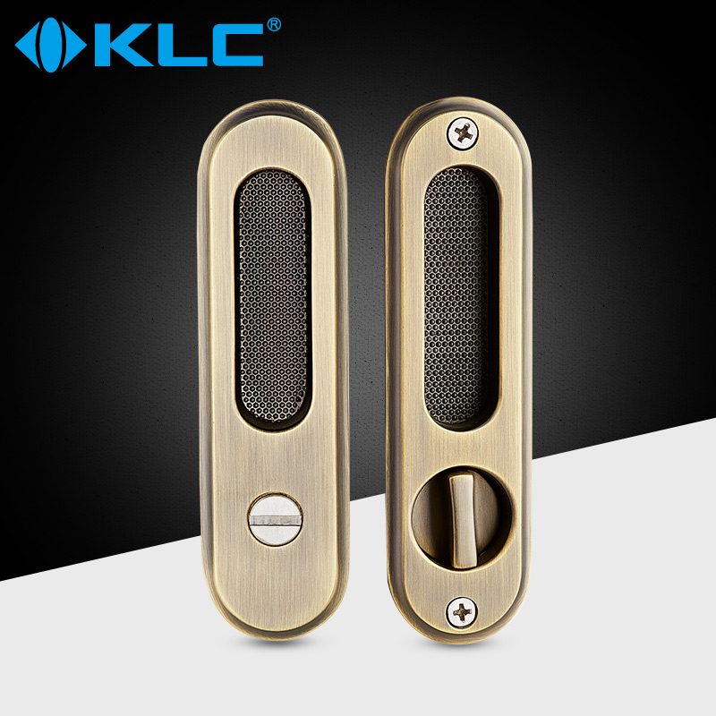 USD 32.41] KLC European sliding door locks sliding door lock dark ...