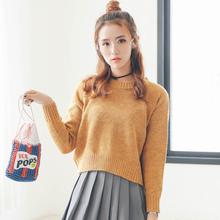 2017秋冬季新款韩版短款毛衣