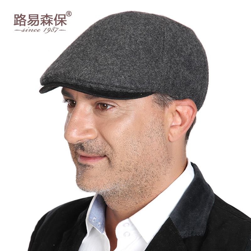 965b471f7ae Autumn and Winter new wool cap middle-aged men s hat woolen hat warm hat old