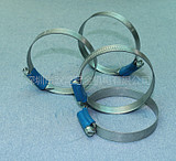 Imported Swedish ABA zinc-aluminum-carbon alloy steel S20 blue belt clamp hose clamp hoop water pipe clamp W1/58-75