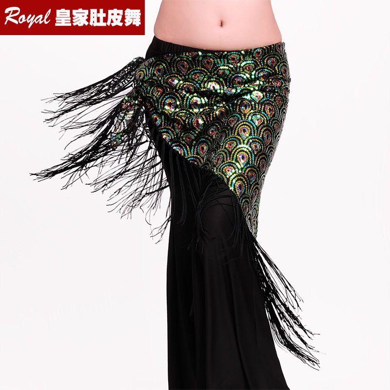 2889def67 New shipping sexy high-grade peacock flower belly dance waist chain waist  towel belly dance hip towel tassel triangle towel