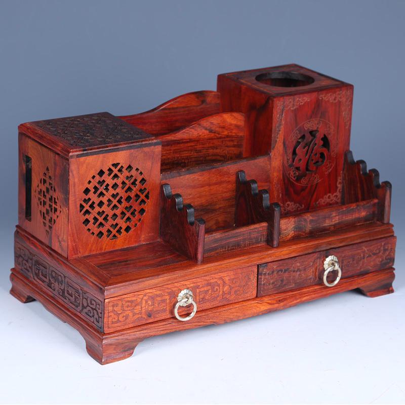 USD 307.67] Laos red Bluetooth speaker rosewood storage box one ...