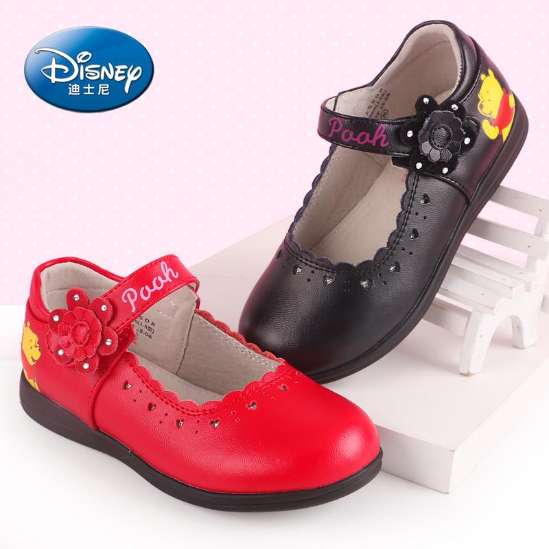 新款韩版水钻女童鞋春秋款时尚儿童公主单鞋 女孩高跟鞋子皮鞋