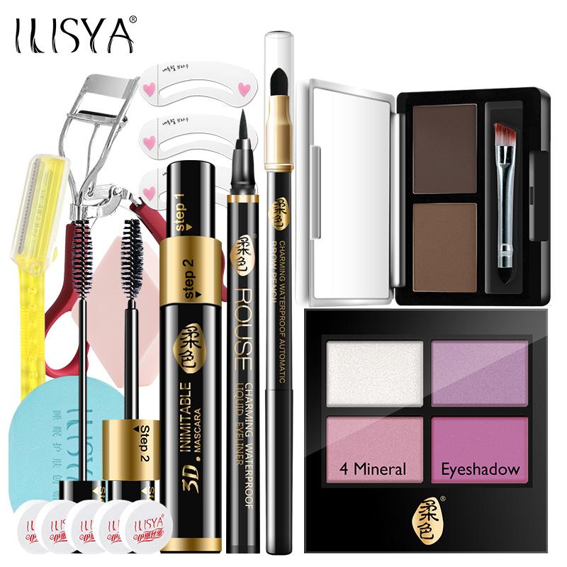 ILISYA Big Eyes Eye Makeup 5 Piece Set Makeup Set Full Set Light Makeup Trang điểm tự nhiên Chính hãng - Bộ trang điểm