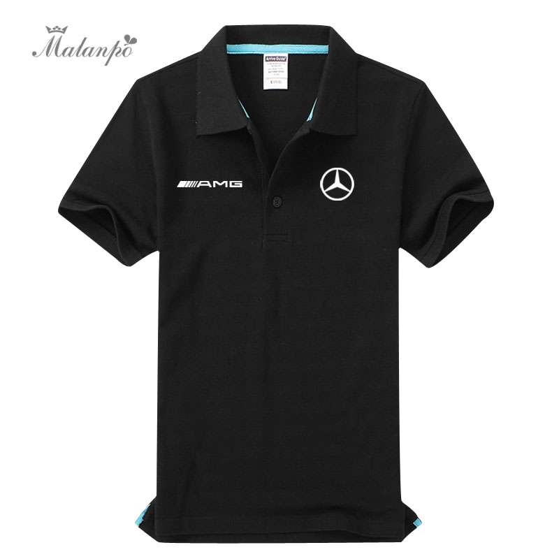 e63b26096cd Custom Mercedes-Benz AMG polo shirt car 4S shop short-sleeved T-shirt  overalls men and women clothes loaded car friends will be marked