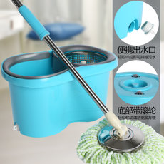 Double-drive mop bucket hands-free mop bucket rotation automatic good god drag family mop bucket effort-free cloth drag