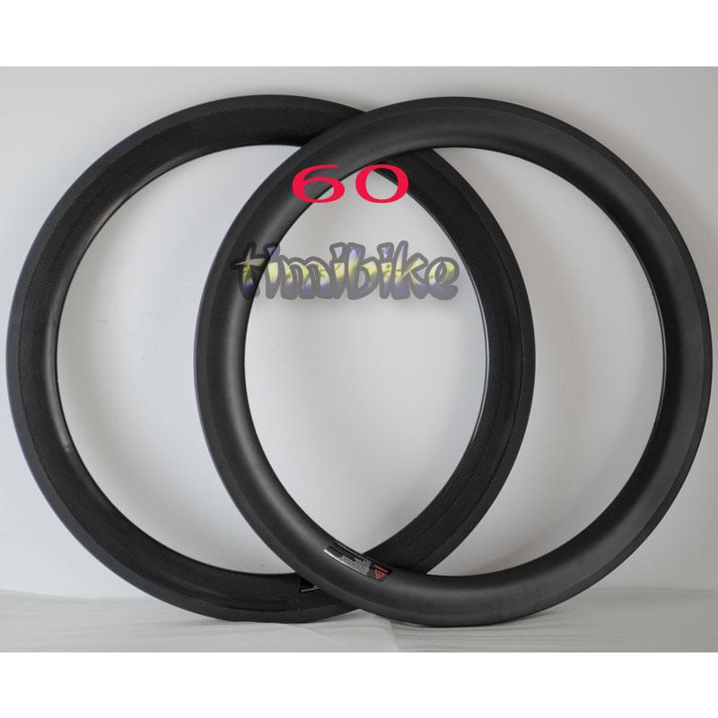 碳纤维刀圈60mm公路自行车轮开口圈死飞700C23宽管胎24 38 88 50
