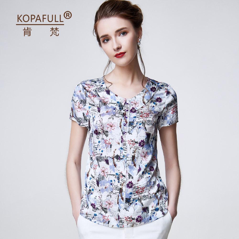 肯梵2016春装新款气质长袖衬衫女重磅真丝上衣显瘦大码桑蚕丝衬衣