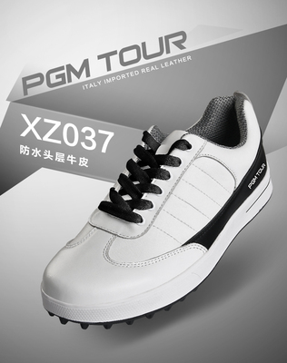 2015 autumn and winter new PGM golf shoes men's leather spike-free waterproof casual shoes