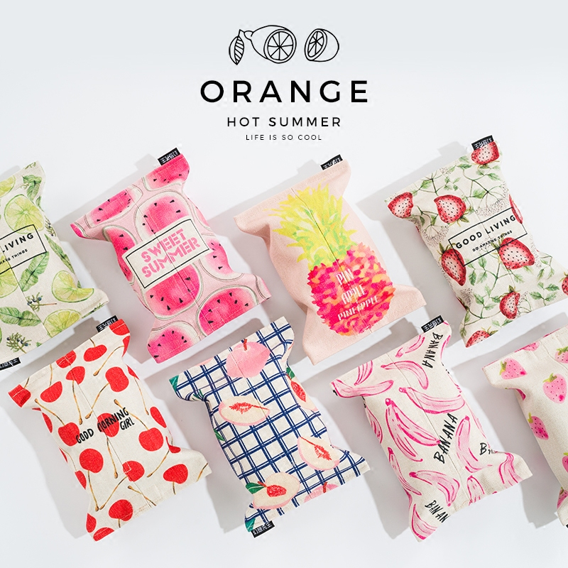 USD 13.77] Daily special fruit creative cotton paper towel box ...