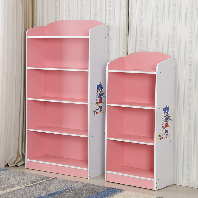 Childrens Bookshelf Bookcase Simple Small Free Combination Kindergarten Cartoon Locker Shelf