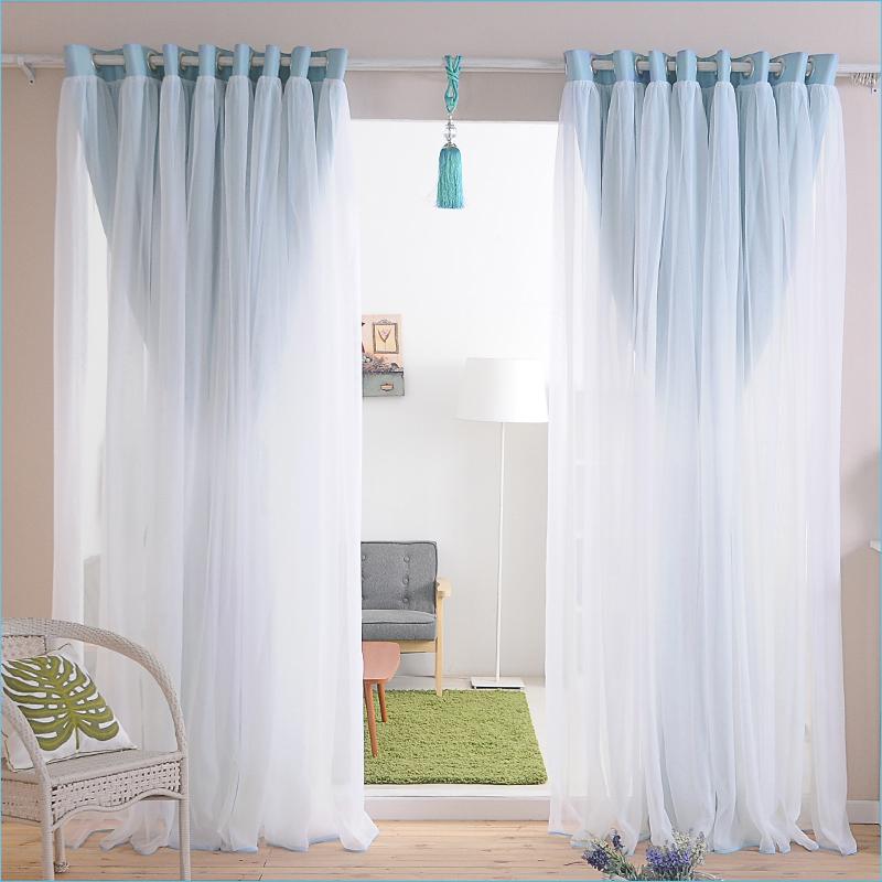 名门之秀欧式水溶绣花窗帘成品半遮光客厅卧室成品窗帘定制布高档