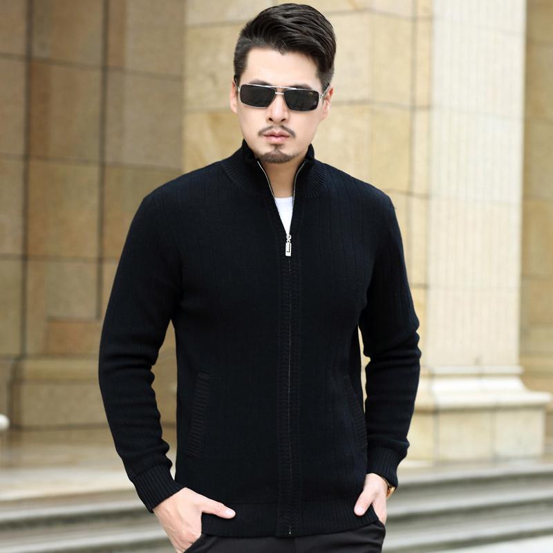 冬季毛衣男初中学生高中生加绒加厚款高领潮青少年羊毛衫保暖线衣
