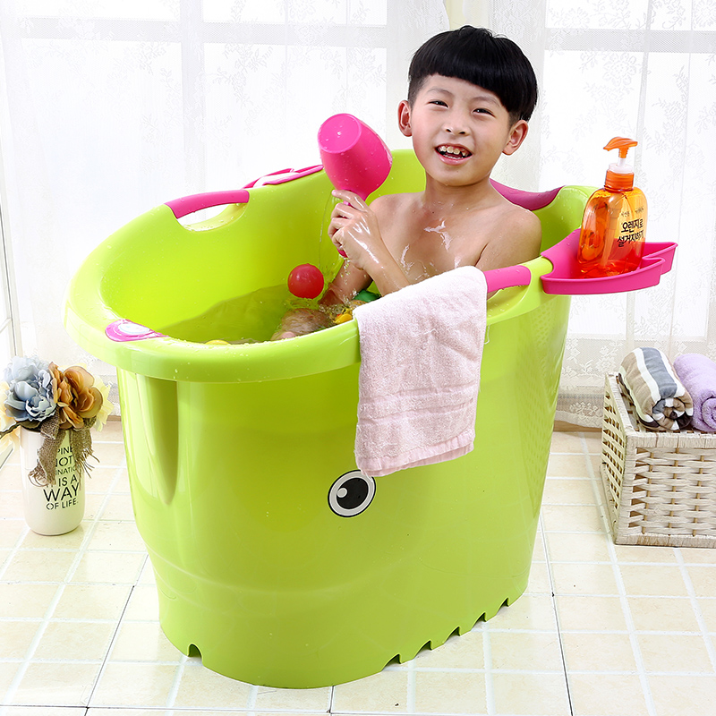 USD 35.41] Children\'s bath tub tub can sit large size baby bath tub ...