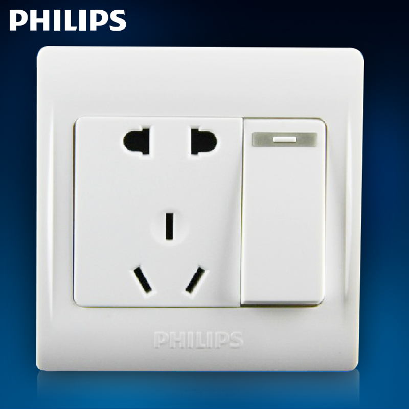 Philips Switch Socket Q2 Is A Large Rocker Single Pole Two Or Three Power Supply