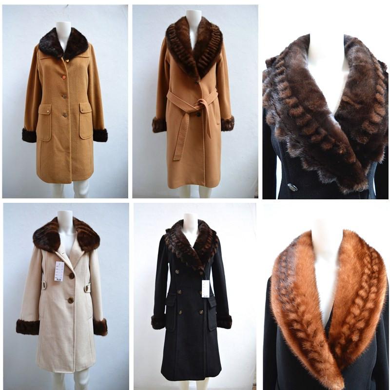 2015狐狸毛领高端双面羊毛大衣毛呢女拼接貂绒斗篷宽松披肩外套