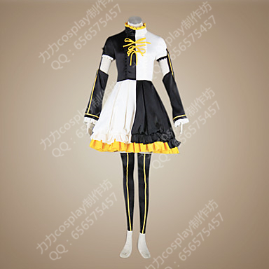 taobao agent Cosplay women's hatsune vocaloid mirror sound twins furnace heart melting cos costume