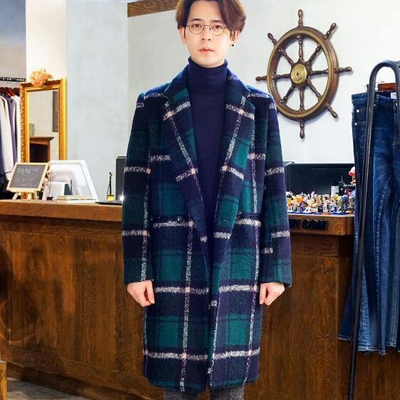 包邮冬季新款韩版毛呢外套女中长款加厚保暖韩范宽松茧型呢子大衣