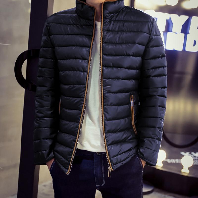 冬装男款羽绒棉衣潮男学生连帽短款棉服加厚男士青年纯色棉袄外套