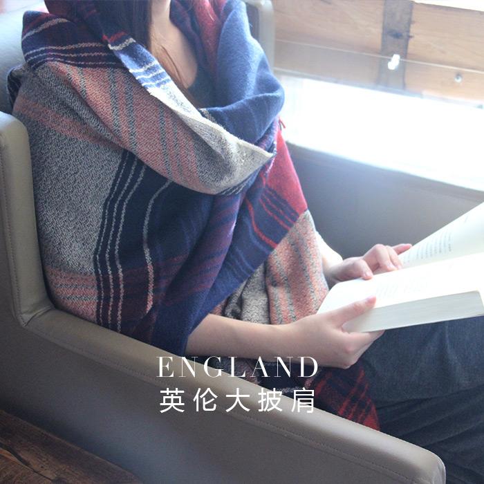 韩版超长款加厚格子围巾女春秋冬季学生英伦流苏百搭保暖披肩两用