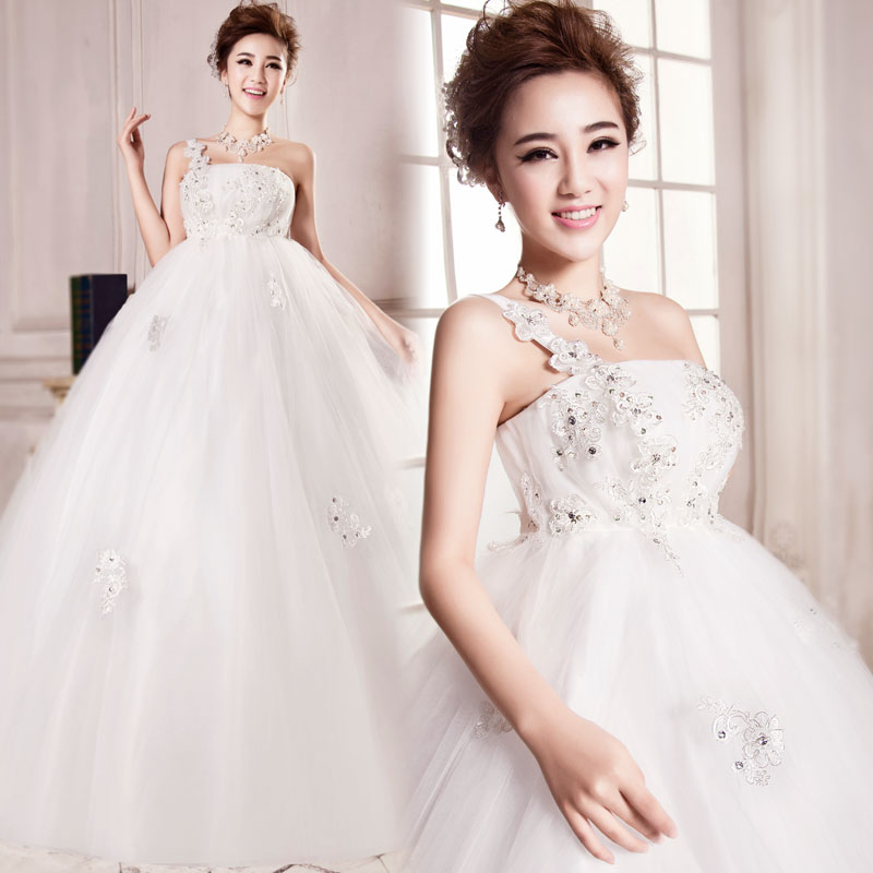 Usd 9921 Fat Mm Wedding Dress Pregnant Women Wedding Bride Retro