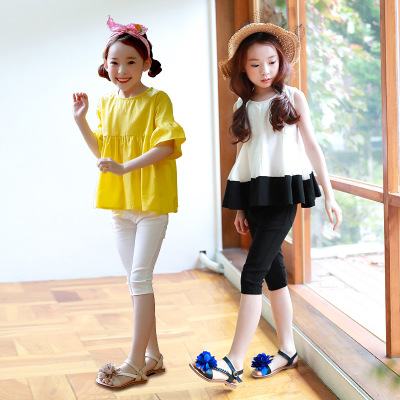 South Korea children's wear five pants pants summer thin elastic stretch Slim Korean version of the wild in the bottoming pants