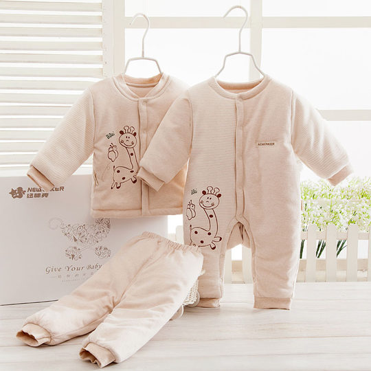 Padded cotton baby clothes newborn gift boxes full moon baby cotton suit newborn baby products in autumn and winter