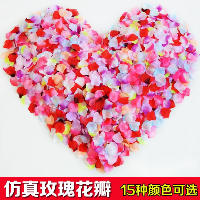Simulation Rose Petals Wedding Wedding Celebration Sprinkle Wedding Room  Wedding Bed Decoration Birthday Scene Valentineu0027s Day Decoration