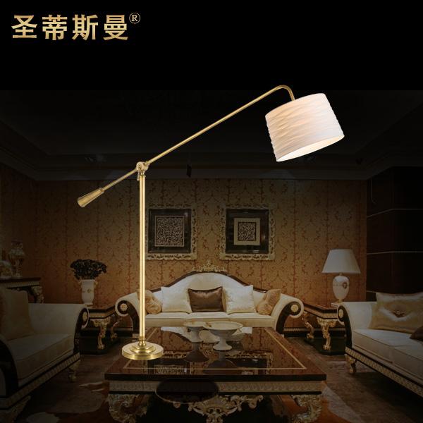 铜落地灯欧式高档奢华台灯美式田园别墅客厅卧室落地装饰灯具