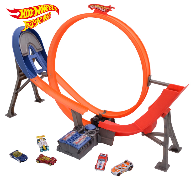 Mattel Hot Wheels Electric Swing Stunt Track Y3105 Racing Toy Sports Car Boy Birthday Gift