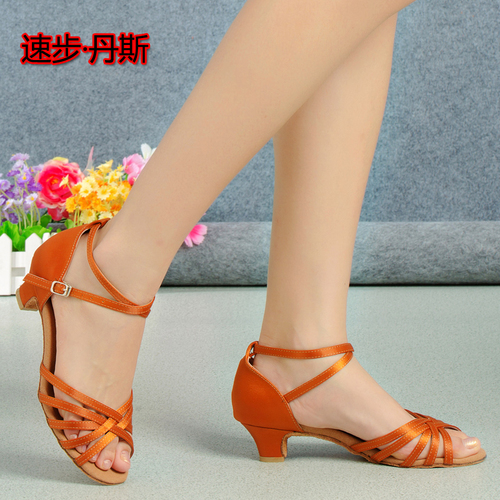 Women's Ballroom Latin dance Shoes Latin dance shoes childre girls big childre middle and large flat heel soft soled childre beginners' dancing shoes
