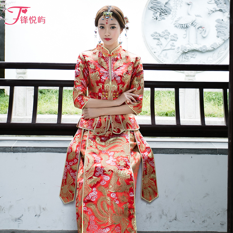 USD 128.73] Feng Yue Island Show WO clothing spring Chinese Bridal ...