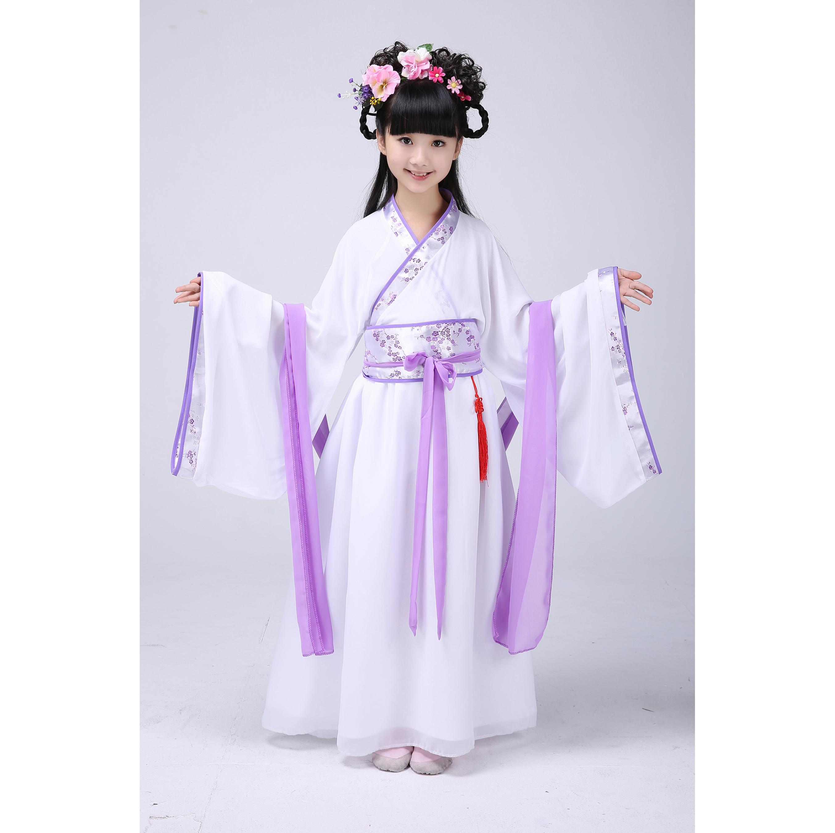 女童古装仙女装表演服古代公主古筝汉服影楼写真服装图片