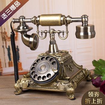 TQJ континентальный гостиная античный телефон домой спальня творческий ретро фиксированный телефон мода вращение диск сиденье машинально, цена 3347 руб