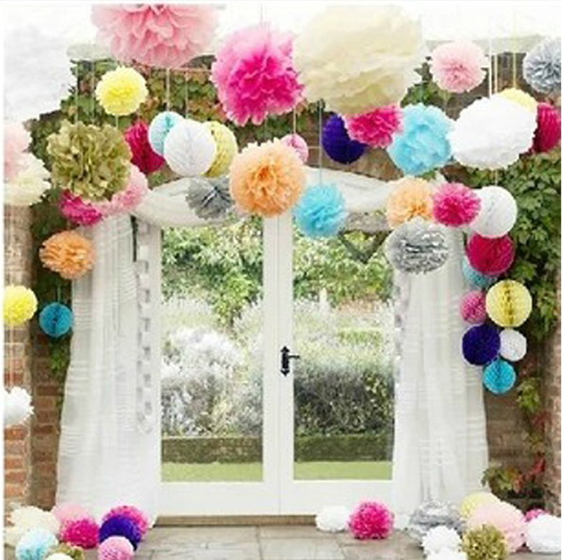 Find the odd birthday party decoration annual New Year Party creative paper decoration paper ball flower size multi-color
