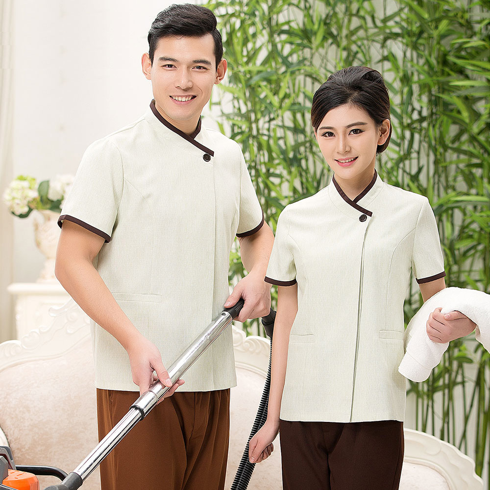 Hotel Housekeeping Services: Jinwei Cleaning Overalls Short Sleeve Cleaning Clothes