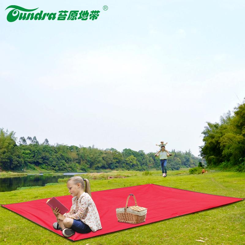 Thảm dã ngoại tán ánh sáng không thấm nước tráng bạc dày sáu lỗ vải thảm ẩm pad ngoài trời lều mat - Thảm chống ẩm / Mat / Gối
