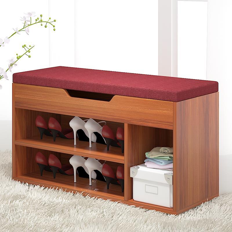 Ouyilang giày băng ghế dự bị lưu trữ đơn giản phân sáng tạo sofa phân lưu trữ giá giày vải bệ chân giày giày phân tủ