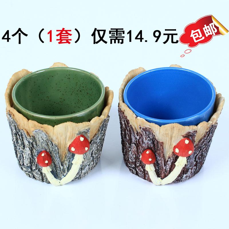 仿真桦树皮桦树叶竹子皮竹节假树皮管道装饰树叶暖气上下水管装饰