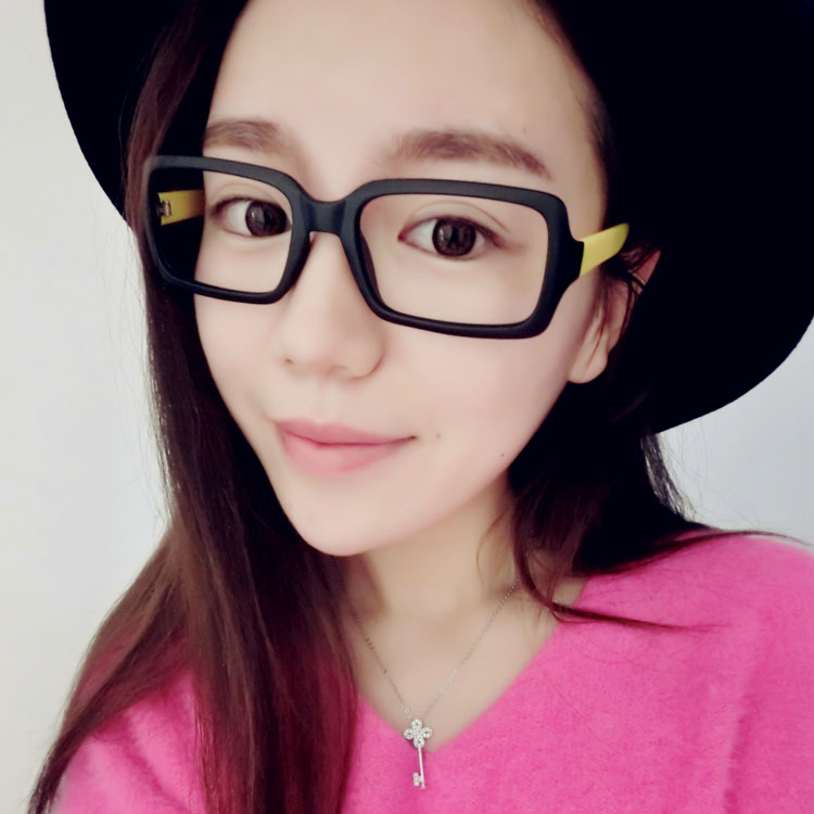 6bda3c25e3 Korean version of the tide retro glasses frame female round face decorative  eye frame frame personality full frame myopia frames without lenses