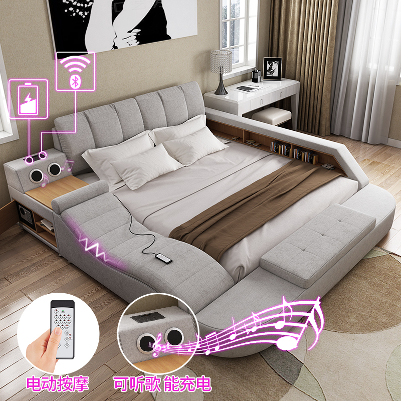 Usd Tatami Bed In Master Bedroom Modern Minimalist Double Bed Marriage Bed Soft Bed 1