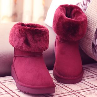 人本冬季新款雪地靴女中筒加厚