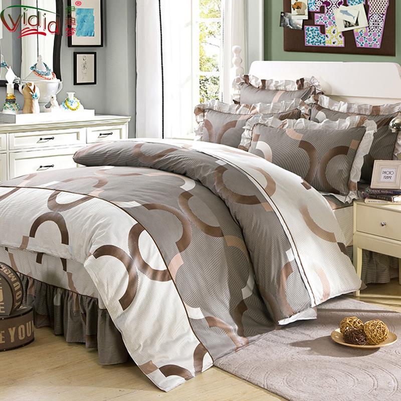 Edie giấc mơ bông giường bao gồm giường phụ, bốn mảnh bông lá sen ren giường váy phong cách giường yn23