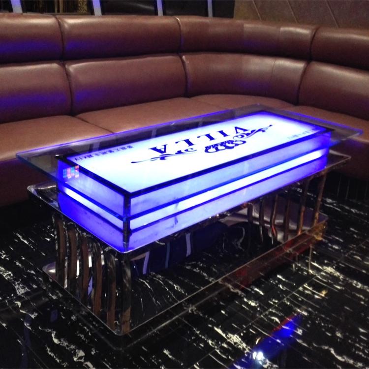 Hộp bàn cà phê KTV, bàn ghế kính cường lực hiện đại đơn giản, nội thất Mai Lê BXG-032, nội thất giải trí - Bàn trà