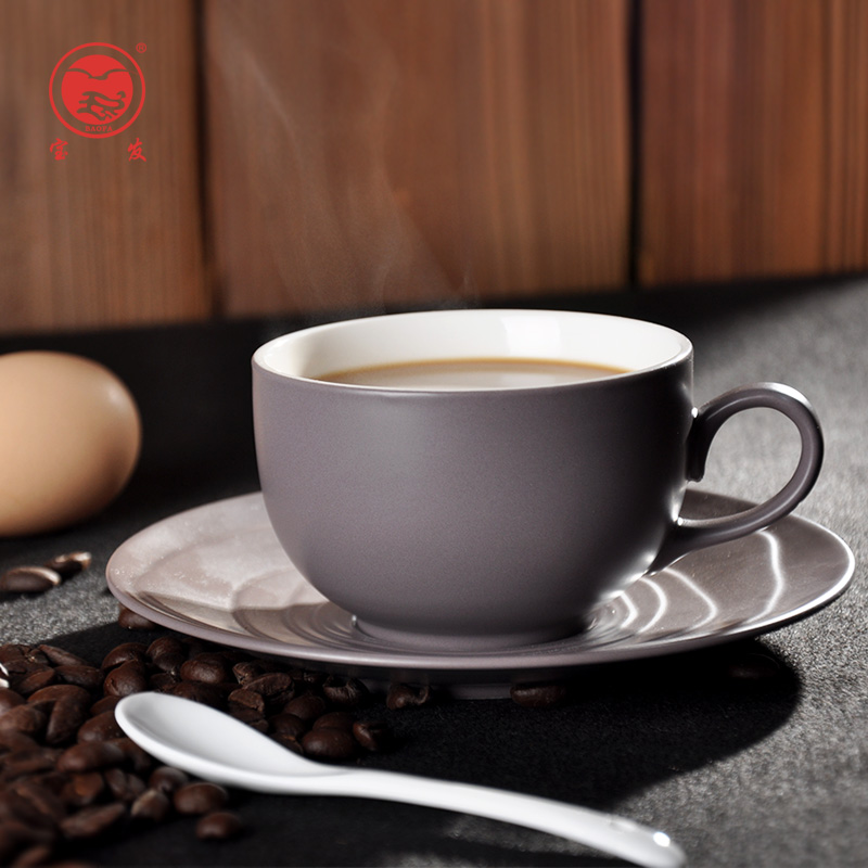 Baofa gốm cốc cà phê đặt Châu Âu tối giản xương mới tách cà phê china với món ăn spoon set hộ gia đình trà đen
