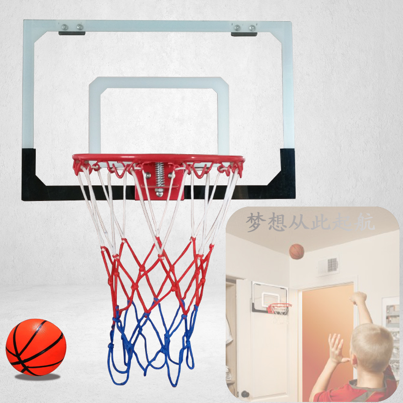 Child Basketball Hanging Basketball Board With Iron Basketball Hoop Outdoor  Home Indoor Office Decor Transparent Backboard