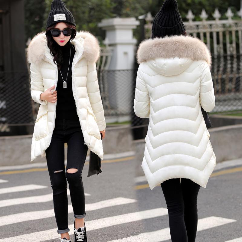 2015冬装新款韩版轻薄真貉子毛大毛领中长款燕尾裙摆斗篷羽绒服女