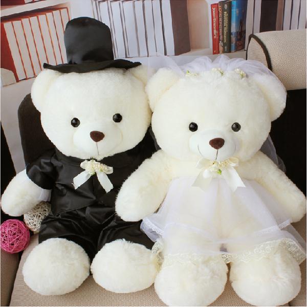 Hay Hay Chicken Stuffed Animal, Fluffy Teddy Couple Wedding Dress Bear Large Teddy Bear Doll Wedding Wedding Bed Doll A Couple Wedding Gift